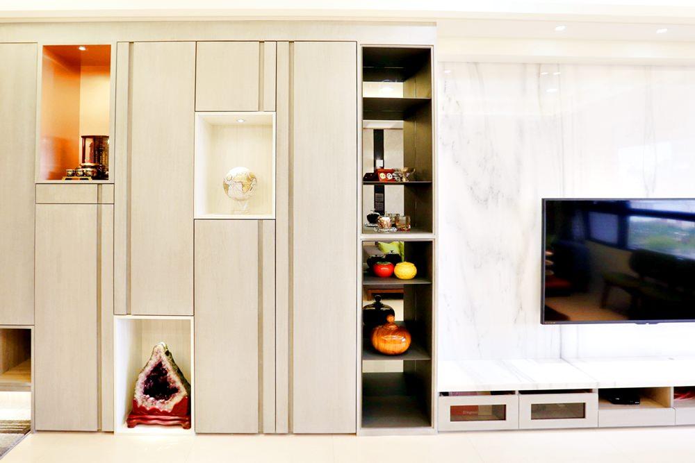 Feeling室內設計 | 木作結合系統櫃 打造三房二廳完美居住空間