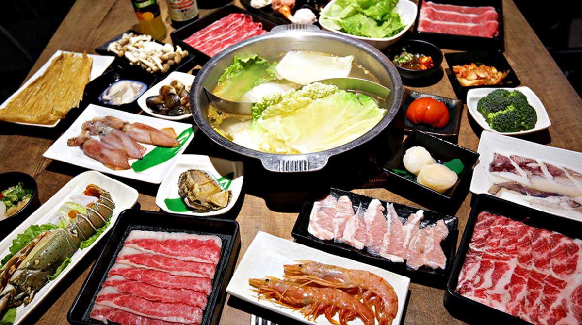 台中沙茶火鍋超市 祥富水產 提著菜藍吃火鍋  中友百貨美食街